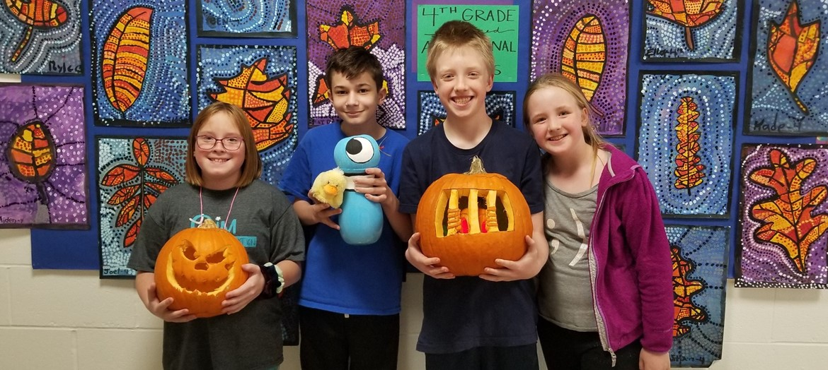 Pumpkin carving contest winners show off their creative pumpkins.