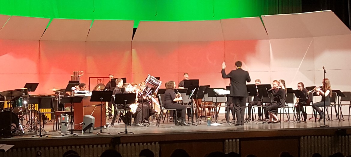 Byron Center Charter band concert winter 2018