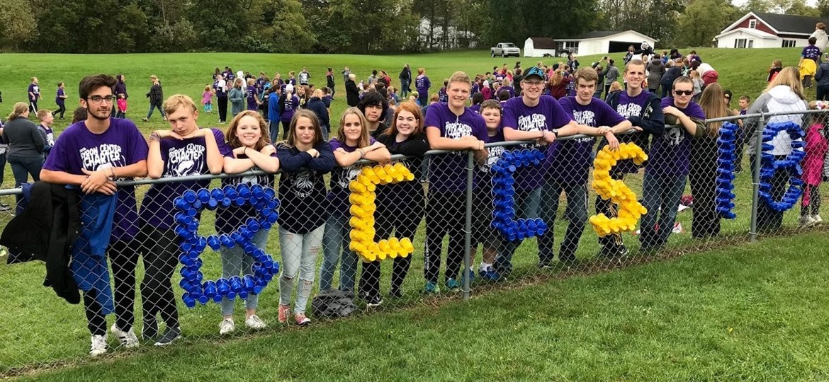 Byron Center Charter students at the annual walk-a-thon 2018